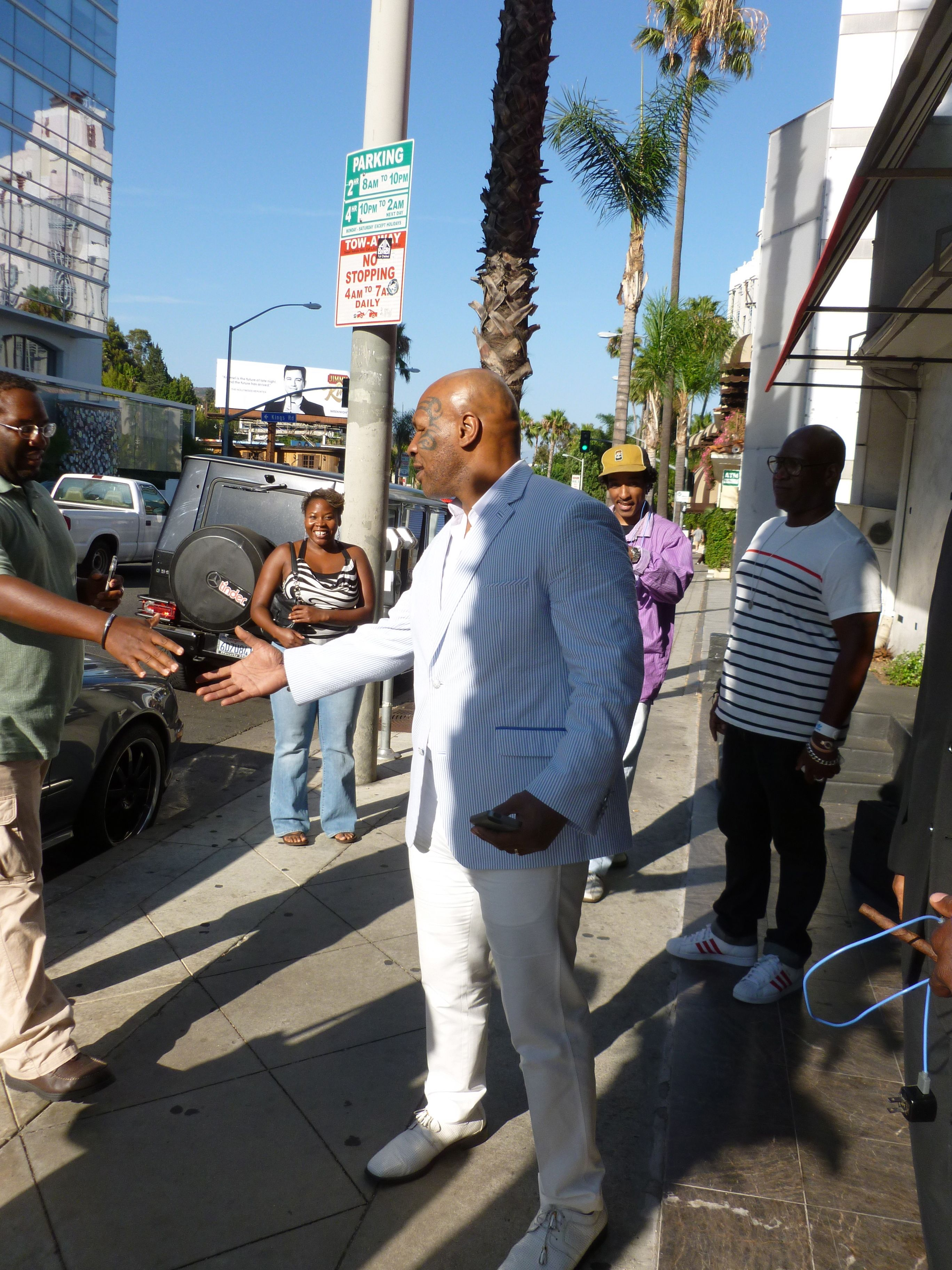 mike tyson buying cigars beverly hills california
