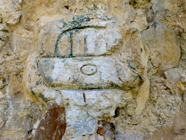 Palenque mayan head stucco