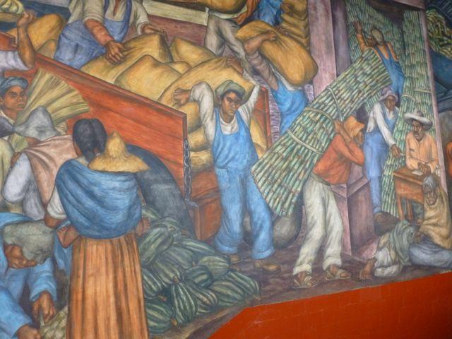 mexican market mural sugarcane