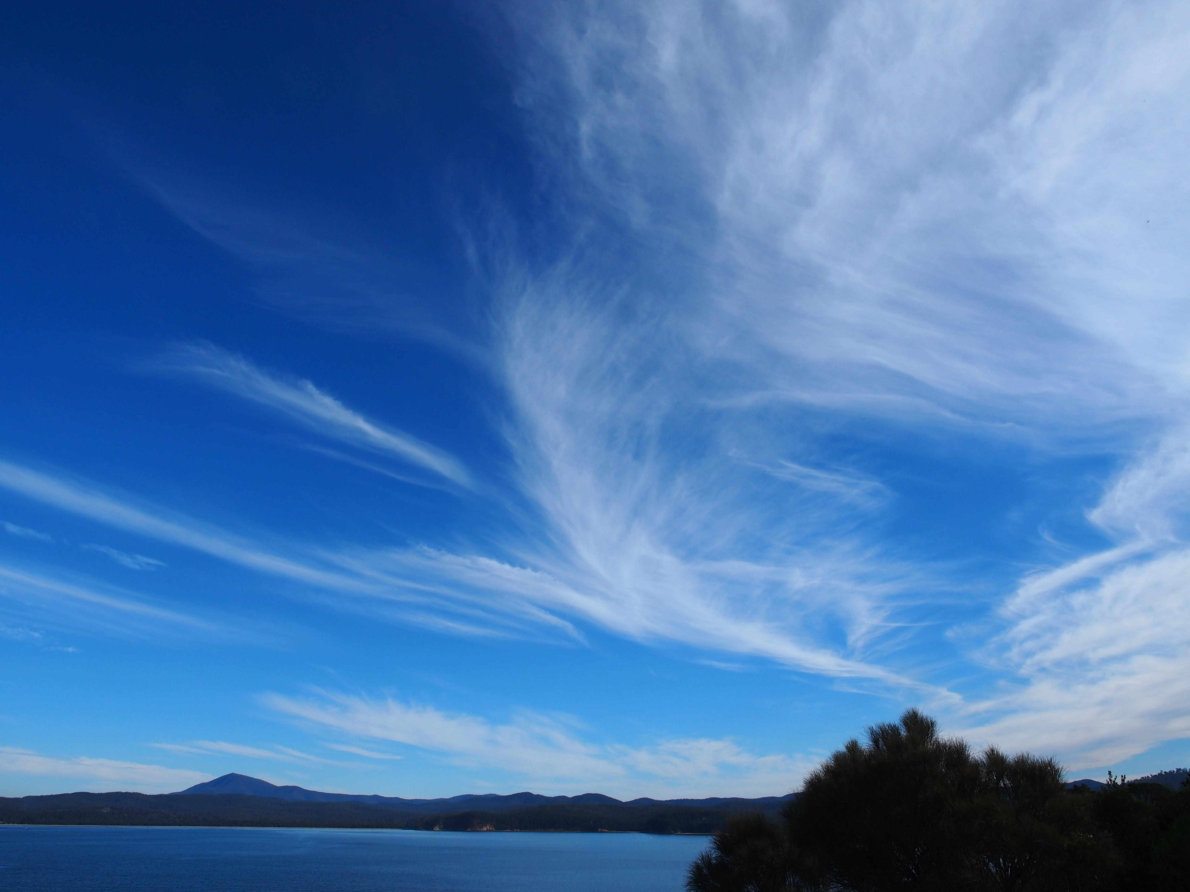 whispy eden clouds nsw australia