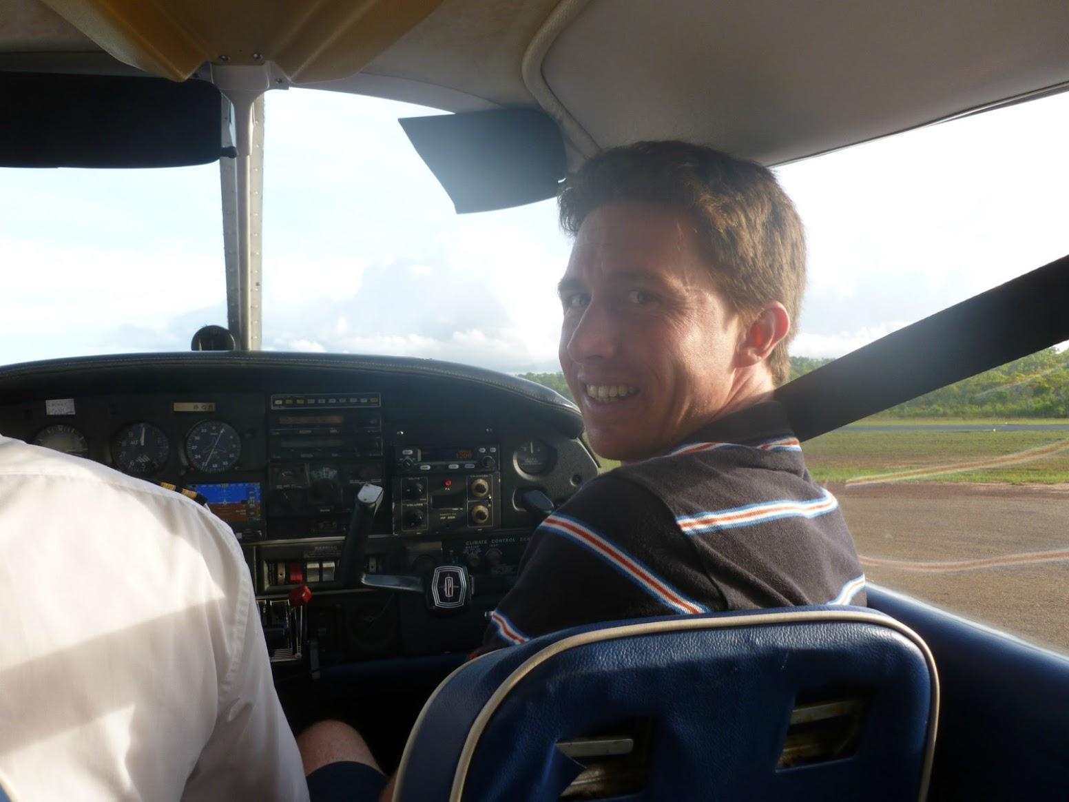 flying a plane, bamaga