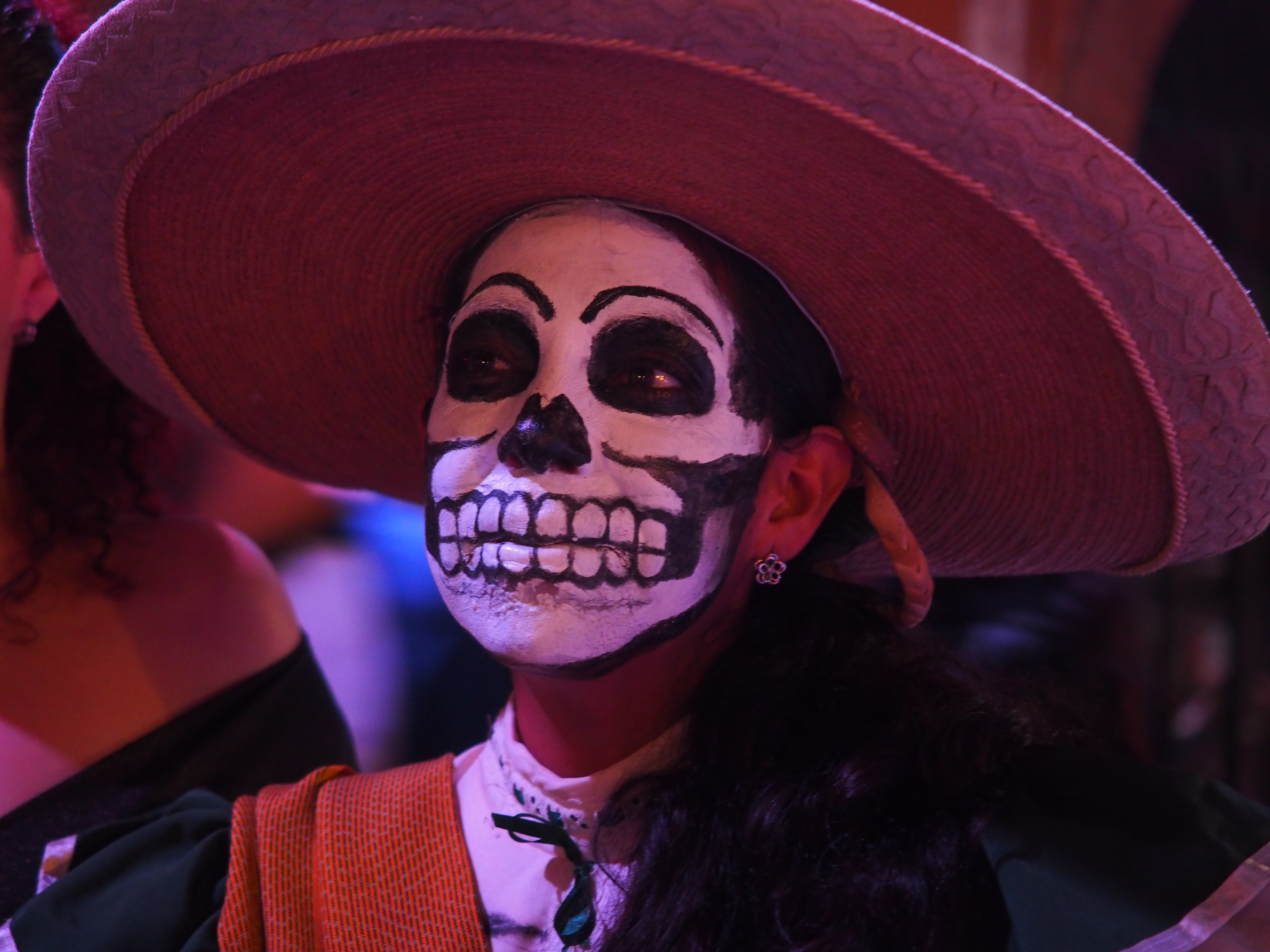 woman with skeleton face day of the dead guadalajara