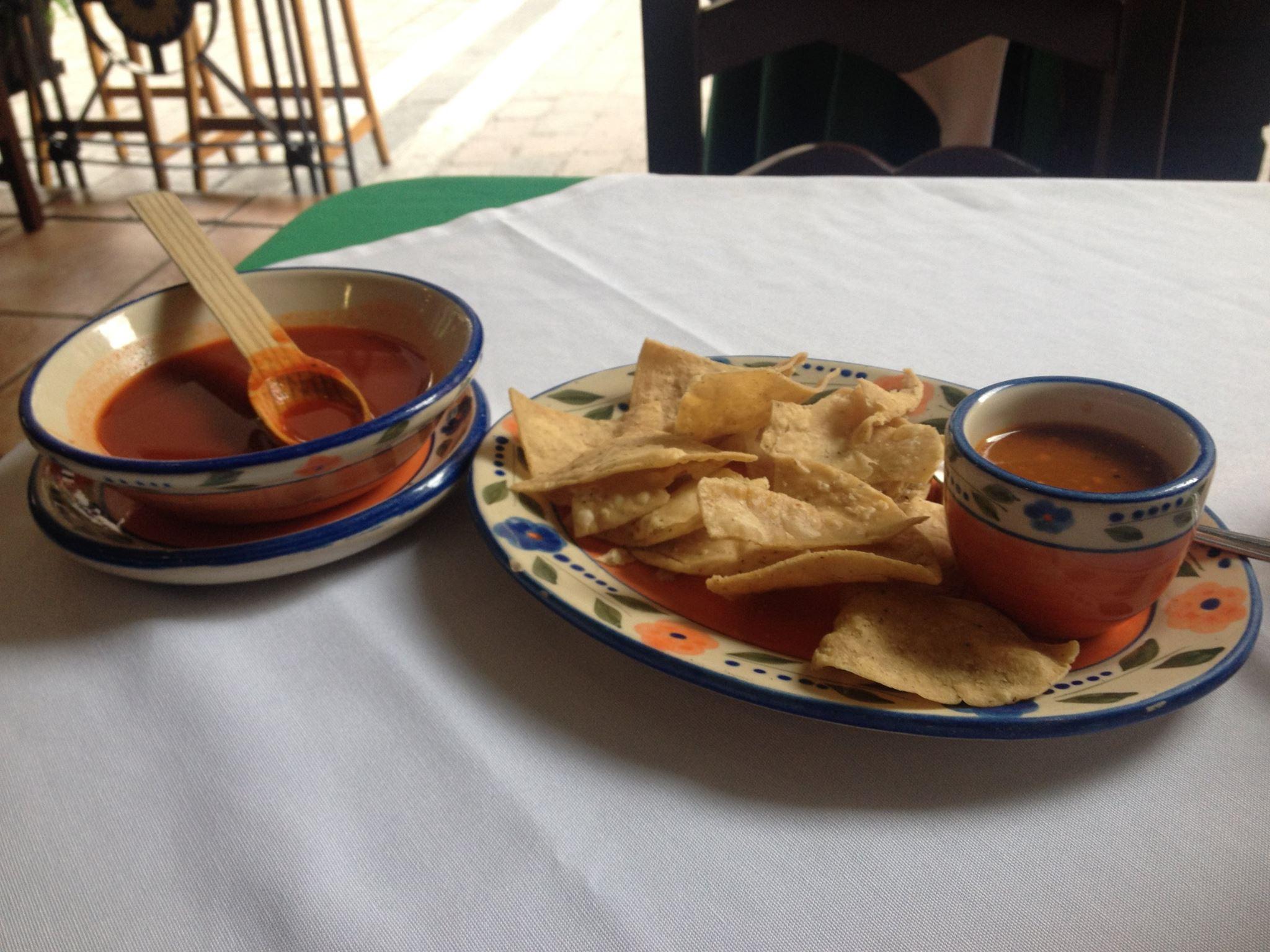 corn chips & salsa guadalajara