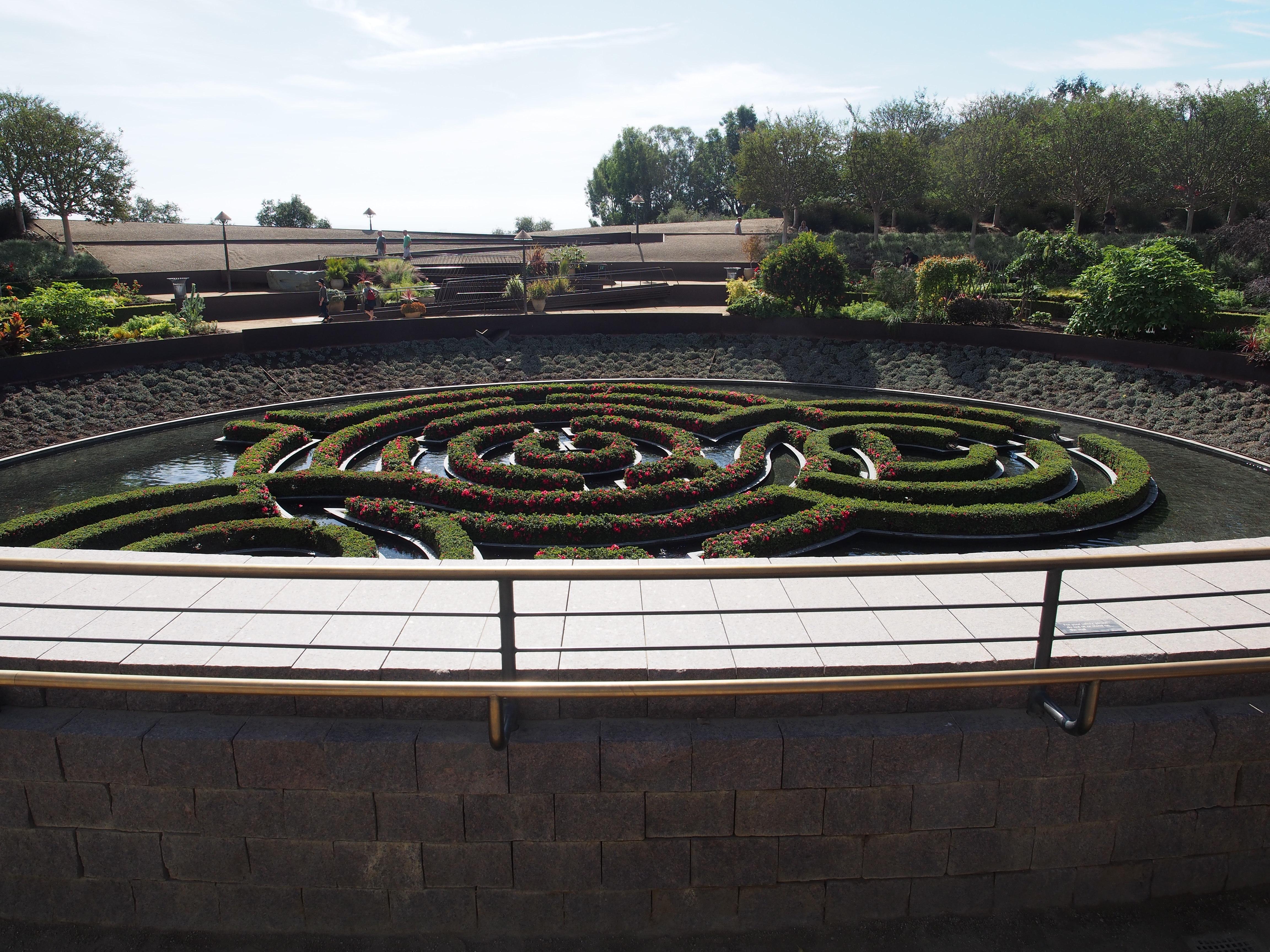 spiral garden, getty museum