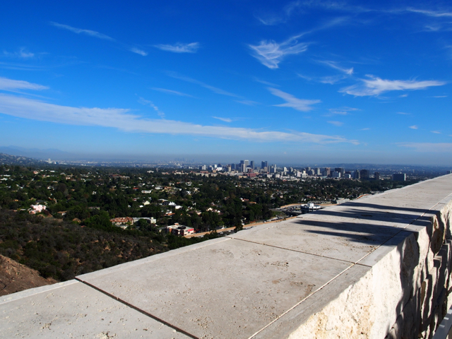 downtown LA from getty museum