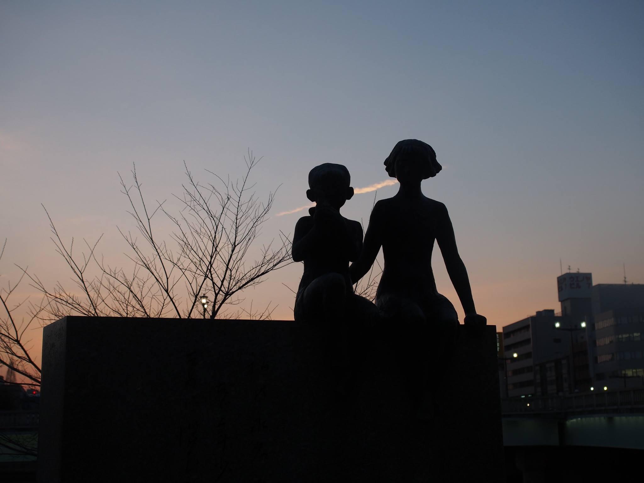 children statue hiroshima
