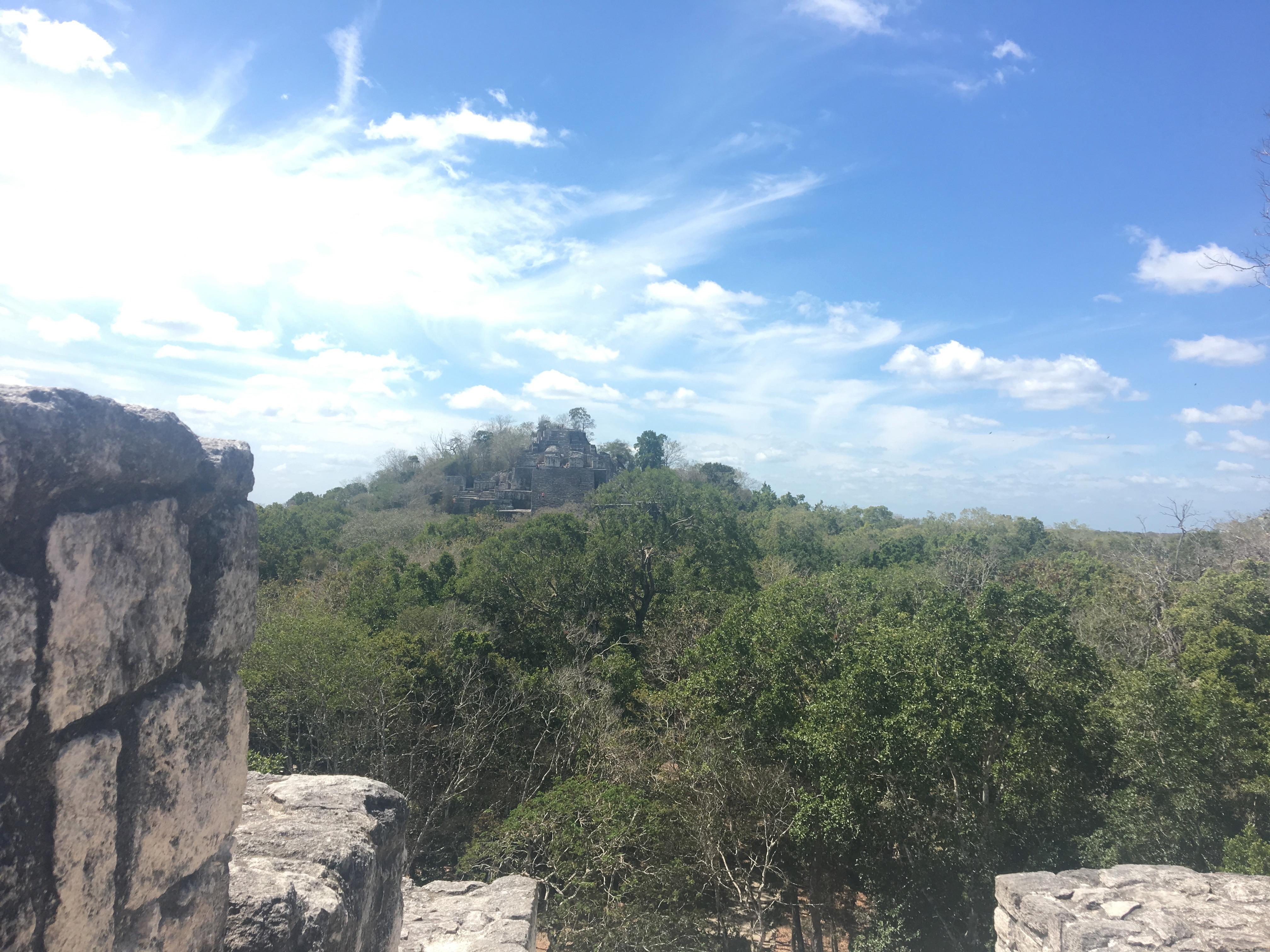 calakmul pyramids campeche mexico
