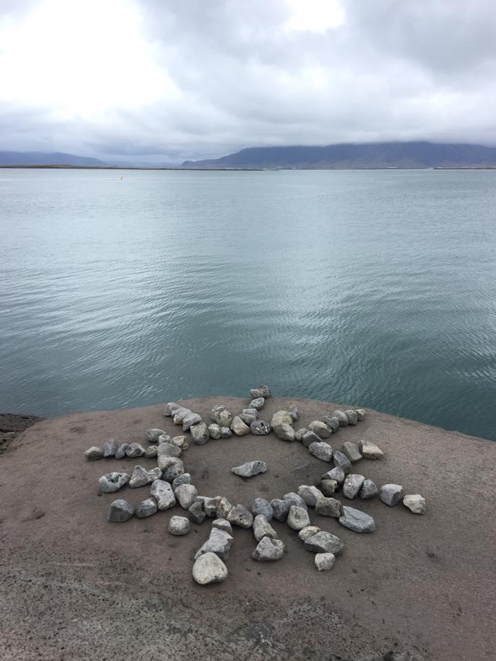 sun rocks reykjavik iceland