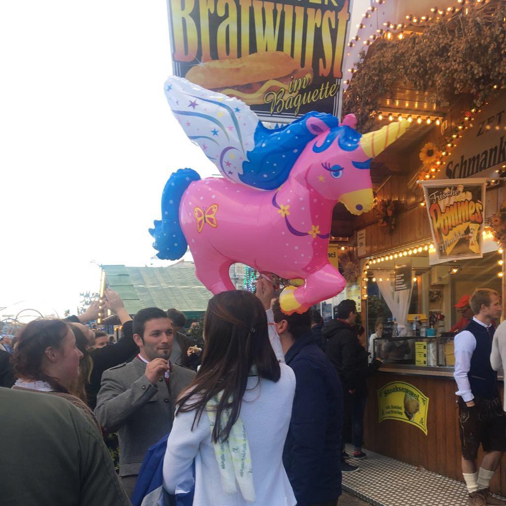 oktoberfest german unicorn inflatable